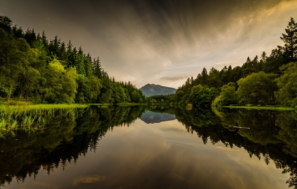 Picture lake, Scotland, Lohan, Glencoe