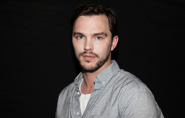 Picture portrait, actor, black background, Nicholas Hoult, Nicholas Hoult, Giffoni, Vittorio Zunino Celotto