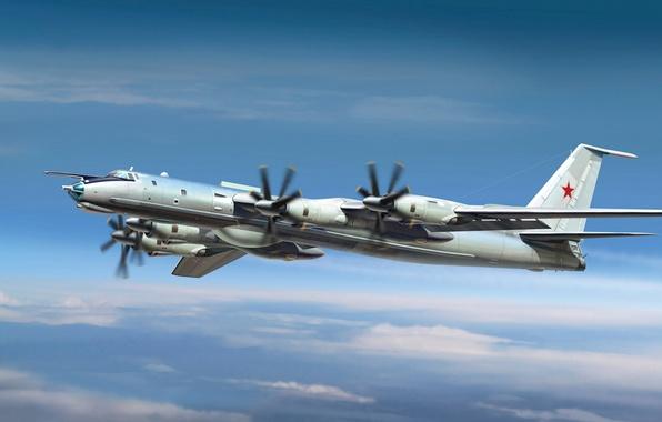 Picture the plane, one, art, Bear, USSR, BBC, OKB, 5000, the, the world, defense, Bear, designed, …