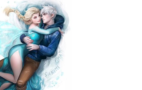 Picture heart, cartoon, art, pair, heroes, two, keepers, cold, frozen, dreams, Elsa