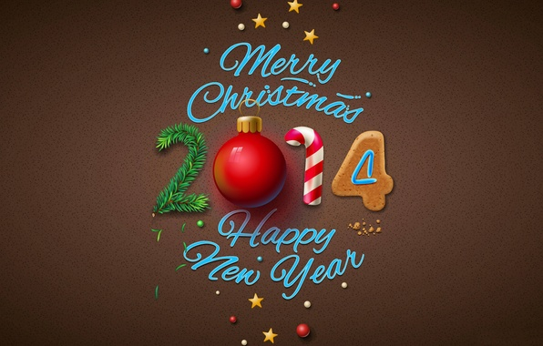 Picture Wallpaper, tree, ball, New year, New Year, Merry Christmas, 2014