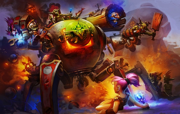 Picture dwarf, Goblin, bot, Hearthstone, Goblins vs Gnomes, Hearthstone: Heroes of Warcraft