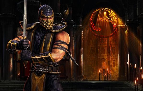 Picture Scorpio, ninja, Mortal Kombat