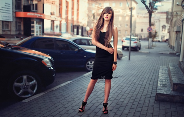 Picture auto, the city, street, Veronica, street style, stylish girl
