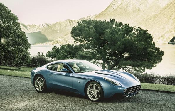 Picture photo, Blue, Ferrari, Car, Berlinetta, Touring, 2015, Lusso, Luxury, Carrozzeria