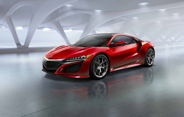 Picture photo, Red, Car, Acura, NSX, 2015, Metallic