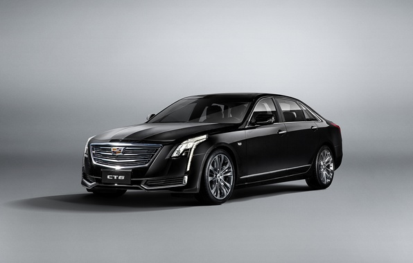 Picture white, background, Cadillac, sedan, Cadillac, CT6