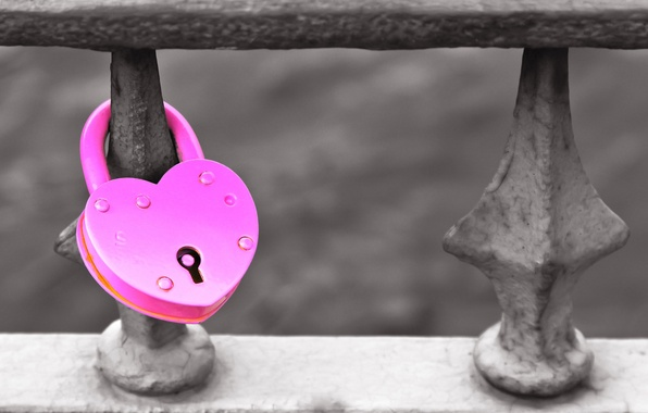 Picture love, grey, background, castle, mood, pink, heart, form, love, heart, different, widescreen, full screen, HD …