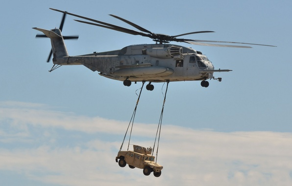 Picture helicopter, military, Sikorsky, transport, heavy, shipping, Super Stallion, CH-53E