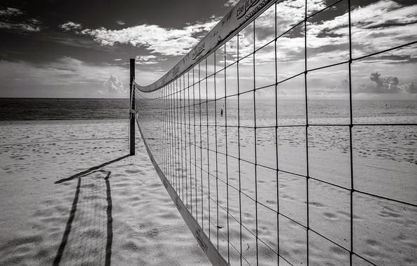 Picture sea, beach, mesh, sport