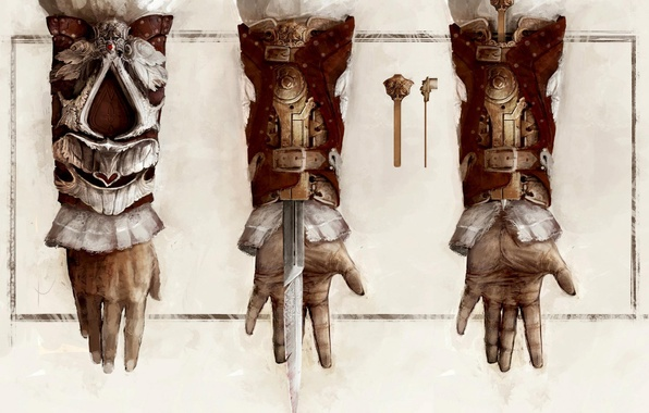 Picture figure, mechanism, hand, art, assassins creed, the creed of the assassins, hidden blade