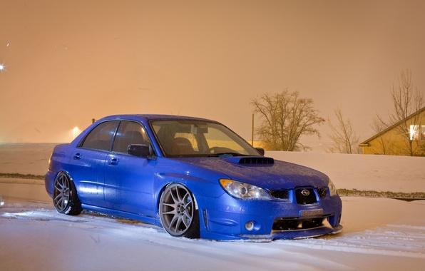 Picture winter, machine, snow, Wallpaper, Subaru, car, WRX, impreza, wallpapers, Subaru, STi