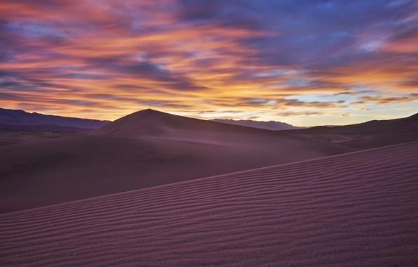 Picture landscape, sunset, desert