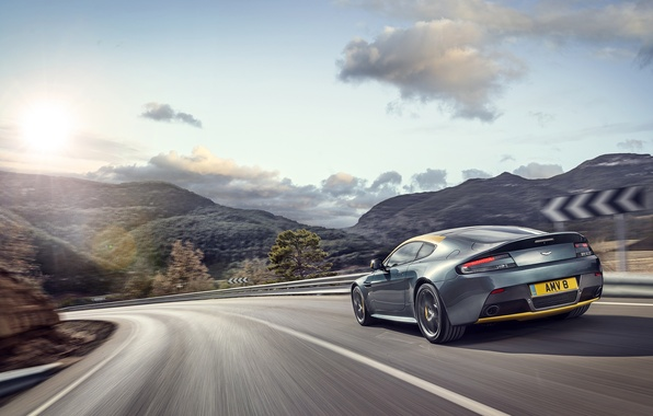 Picture Aston Martin, Vantage, Speed, Turn, Car, Speed, Aston Martin, N430