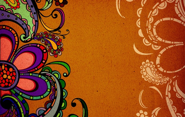 Picture figure, texture, Indian pattern