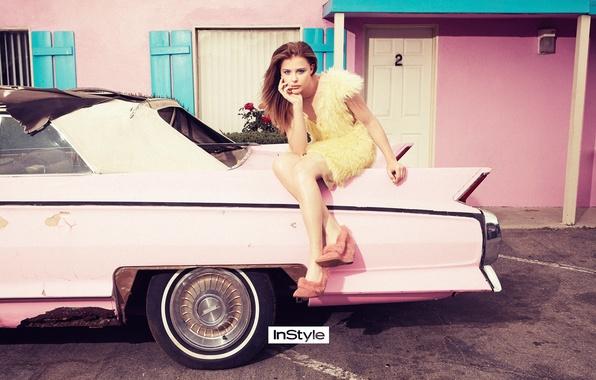 Picture car, sexy, pink, pretty, actress, teen, chloe grace moretz