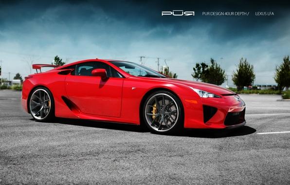 Picture red, Lexus, Lexus, LFA, LF-A, Project Reignfire