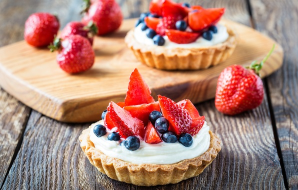 Picture food, blueberries, strawberry, cake, fruit, cream, dessert, fruit, sweet, strawberry, blueberry, cream, dessert, tart