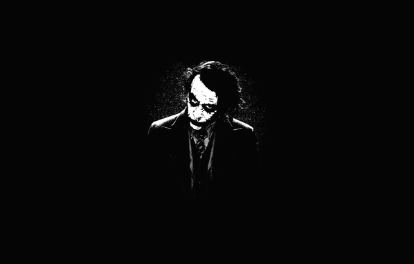 Picture face, smile, batman, Joker, Batman, the dark knight, joker, Dark knight
