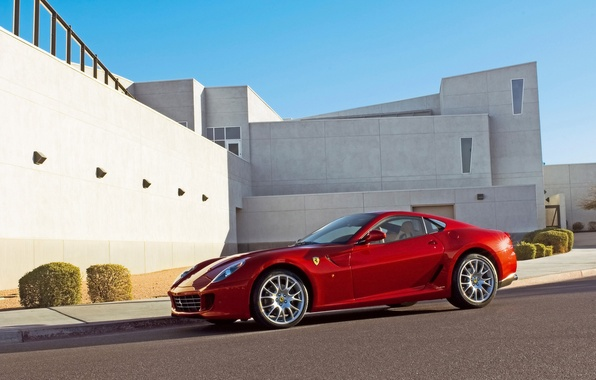 Picture Ferrari, Ferrari, red, GTB, 599