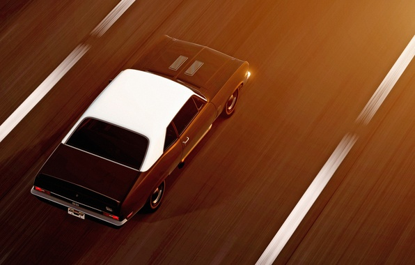 Picture rendering, background, speed, muscle car