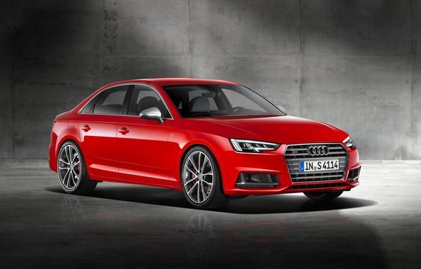 Picture Audi, Audi, Red, red, Sedan, 2015