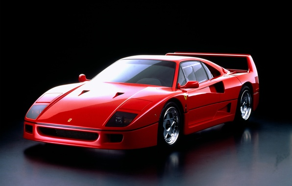 Picture red, Ferrari, F40