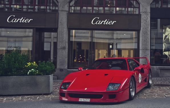 Picture red, Ferrari, red, F40, Ferrari, F40