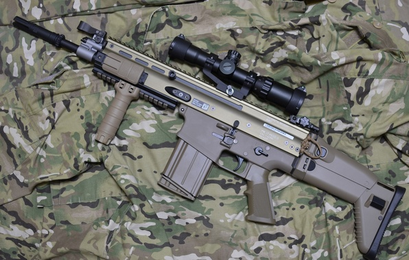 Picture weapons, machine, camouflage, rifle, assault, FN SCAR-H