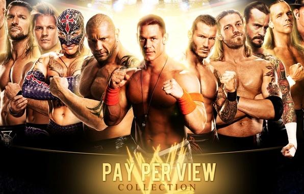 Wallpaper Kane, John Cena, Shawn Michaels, Batista, Under ...