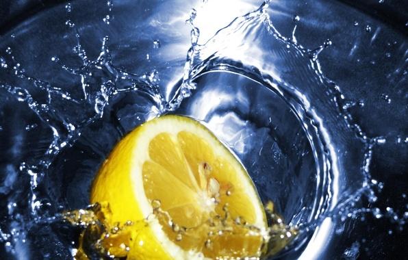 Photo wallpaper lemon, water, tea