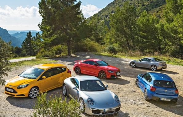 Picture Porsche 911, Toyota GT 86, Audi TT, Ford Focus ST, BMW M 135i
