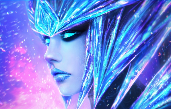 Picture League of Legends, Shyvana, the Half-Dragon, Ice Drake