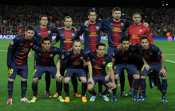 Picture Sport, Football, Lionel Messi, Lionel Messi, Barcelona, Javi, Football, David Villa, David Villa, Composition, Andres ...