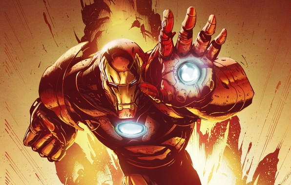 Picture mask, costume, armor, superhero, art, iron man, marvel comics, tony stark