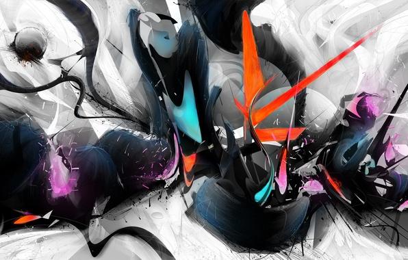 Picture color, line, squirt, paint, strokes