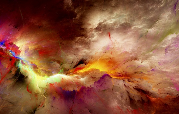 Picture clouds, background, colors, abstract, space, background, clouds, unreal