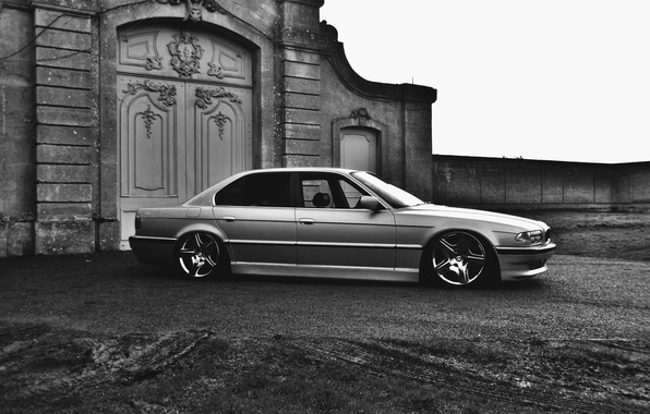 Picture tuning, BMW, Boomer, BMW, drives, stance, E38, 750il