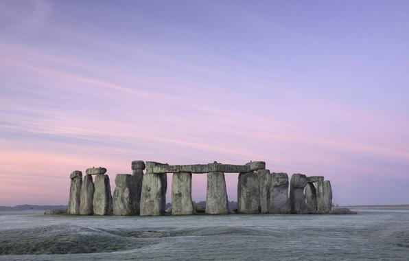 Picture pastel, stonehenge, Stonehenge