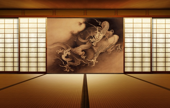 Picture style, room, dragon, interior, picture