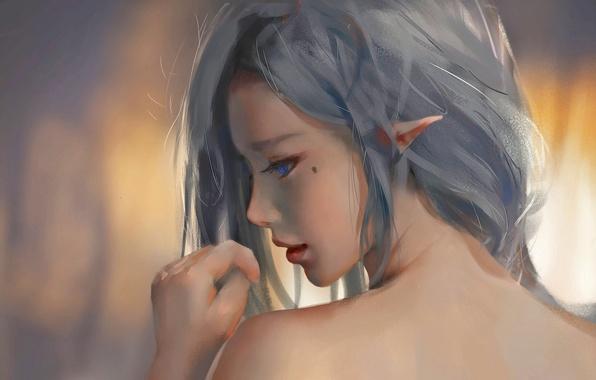Picture fantasy, elf, Girl, art
