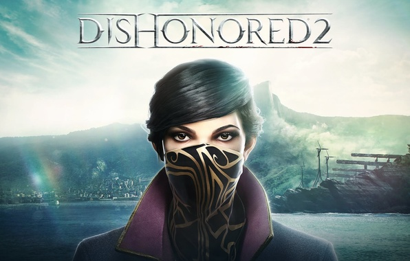 Picture girl, sign, killer, assassin, assassin, Bethesda Softworks, Corvo, Arkane Studios, Dishonored 2