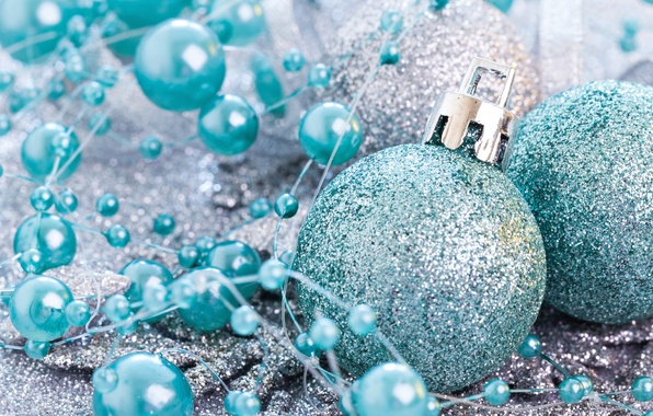 Picture decoration, new year, ball, Christmas