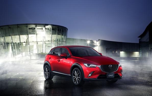 Picture red, photo, Mazda, Mazda, car, metallic, 2015, CX-3