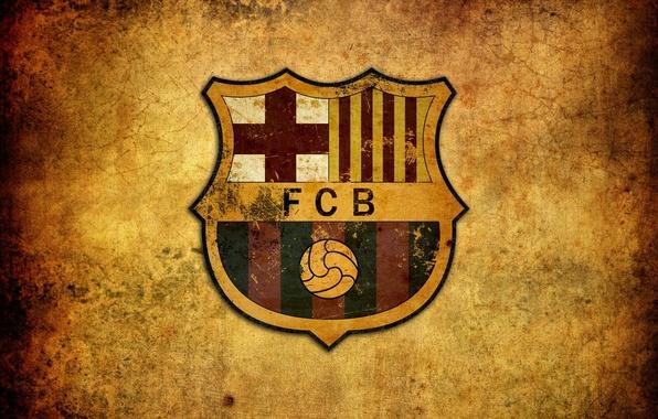 Picture emblem, football, Barcelona, Spain, FCB