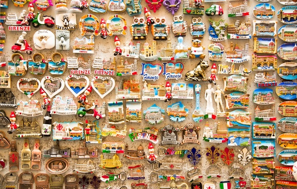 Picture background, wall, Souvenirs