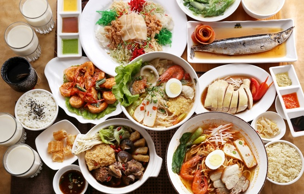 Picture figure, seafood, Japanese cuisine, meals, cuts, sauces