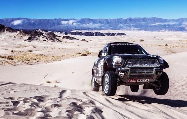 Picture Sand, Mini, Mountains, Black, Sport, Machine, Speed, Race, Dakar, Mini, 2014, Dune, X-raid, In The …