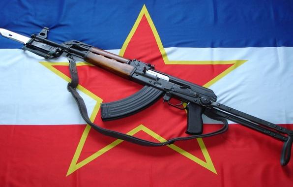 Wallpaper Weapons Star Flag Machine Bayonet
