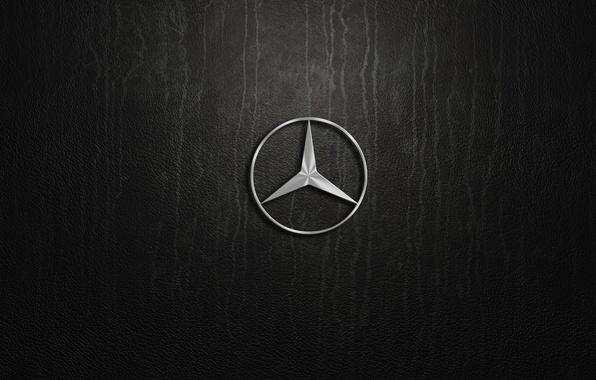 Picture mercedes benz, pylon, logo. silver